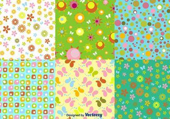 Floral Spring Pattern Vectors - Kostenloses vector #143711