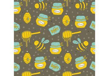 Free Honey Drip Vector Seamless Pattern - Free vector #143761