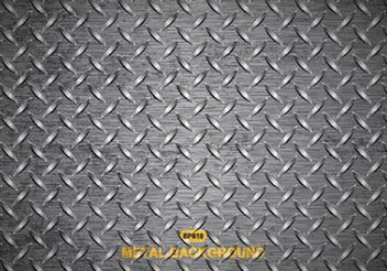Free Vector Metal Diamond Plate Texture - Free vector #143821