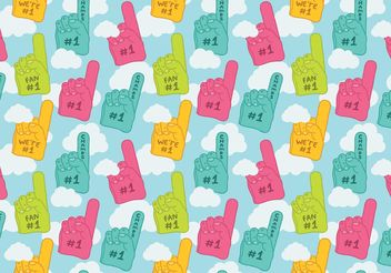 Free #1 foam finger seamless pattern vector - бесплатный vector #143851