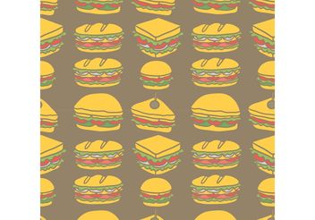 Free Club Sandwich Seamless Pattern Vector - Free vector #144081