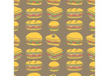 Free Club Sandwich Seamless Pattern Vector - vector gratuit #144081