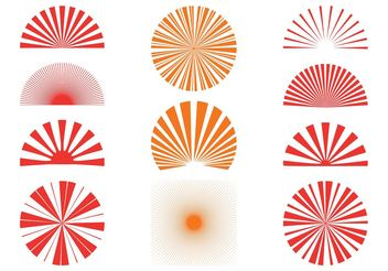 Sunburst Patterns Set - Free vector #144231