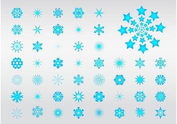 Snowflake Illustrations - vector gratuit #144341