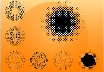 Abstract Round Designs - vector #144351 gratis