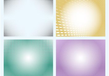 Dotted Backgrounds - Kostenloses vector #144411
