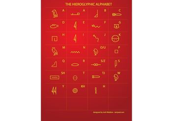 Egyptian Hieroglyphic Writing - vector #144721 gratis
