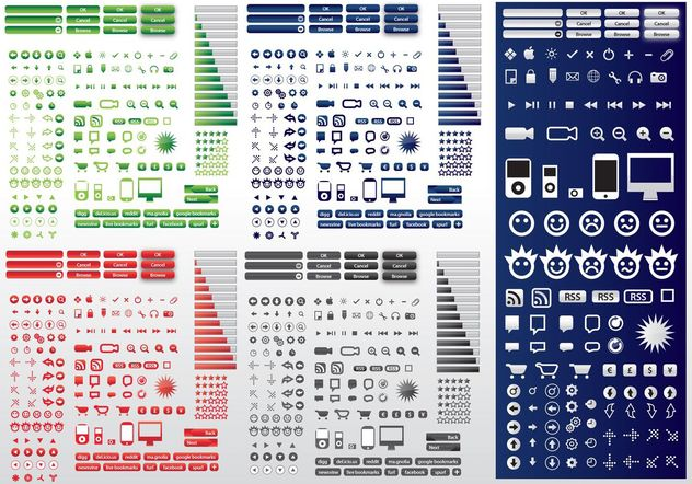 Icons Design Pack - Free vector #144781