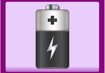 Shiny Battery - vector gratuit #144791
