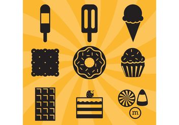 Candy Vector Icons - бесплатный vector #144821