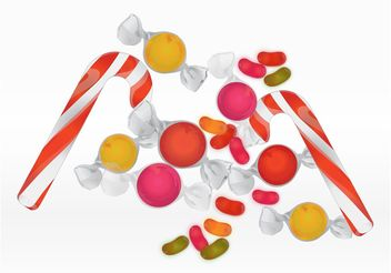 Pile Of Candy - vector gratuit #144831
