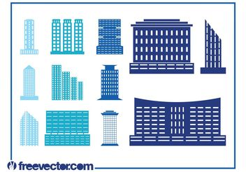 Modern Buildings Set - Free vector #144901