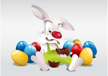 Easter Bunny - Free vector #144961