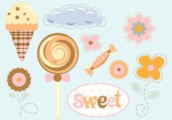 Flowers Sweets Vector - Free vector #145001