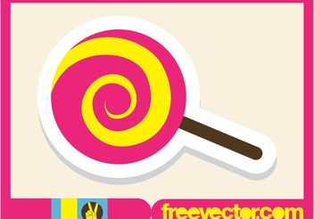 Lollipop Icon - Free vector #145021