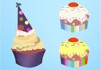 Vector Cupcakes - vector gratuit #145031