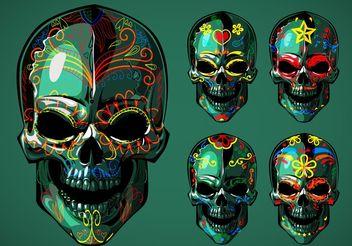 Dia de Los Muertos Sugar Skull Vectors - Free vector #145101