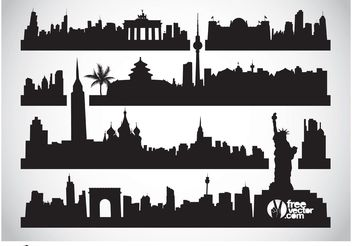 Cityscapes Vector - Free vector #145131