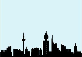 Frankfurt Skyline - Free vector #145181
