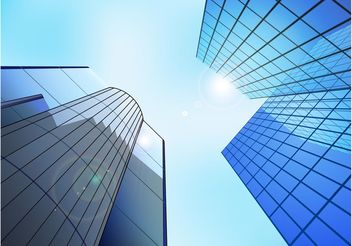 Skyscraper Reflections - Free vector #145191