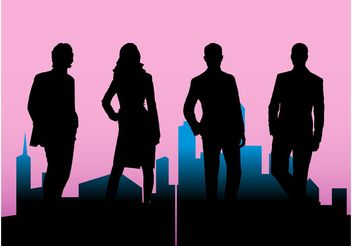 Corporate Silhouettes - vector gratuit #145231