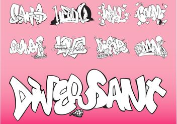 Vector Graffiti Set - Kostenloses vector #145361