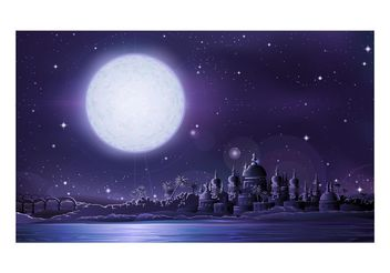 Arab City At Night - vector gratuit #145371