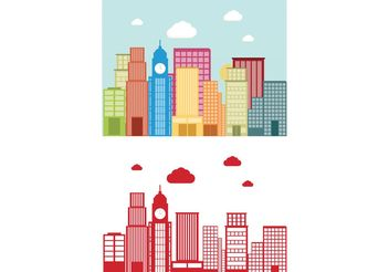 Building Vector Background - Free vector #145451