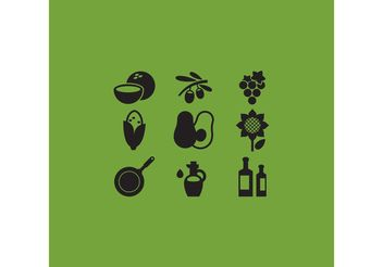 Cooking Oil Vector Icons - Free vector #145491