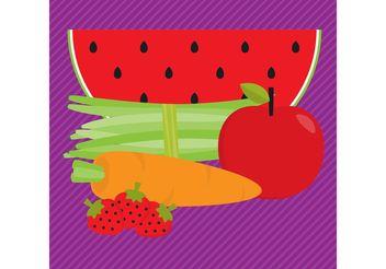 Organic Food Vectors - Free vector #145521