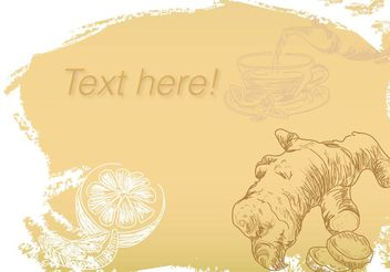 Vector Background Ginger Tea - Kostenloses vector #145541