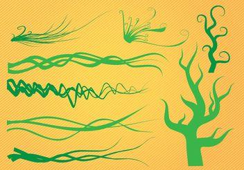 Organic Plant Graphics - Free vector #145551