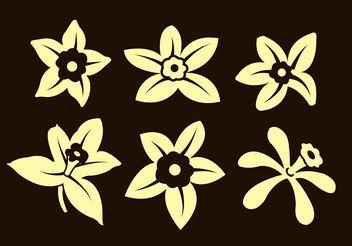 Vanilla Flowers - Free vector #145621