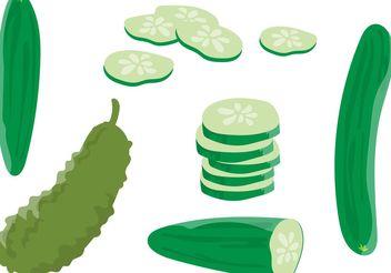 Cucumber Vectors - vector gratuit #145631