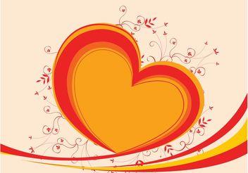 Organic Heart - Kostenloses vector #145661