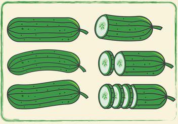 Cucumber Vectors - Free vector #145691