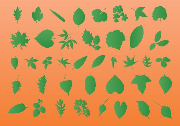 Leaf Vector Silhouettes - Free vector #145721