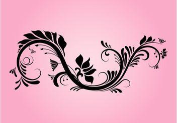 Decorative Floral Swirl - Free vector #145791