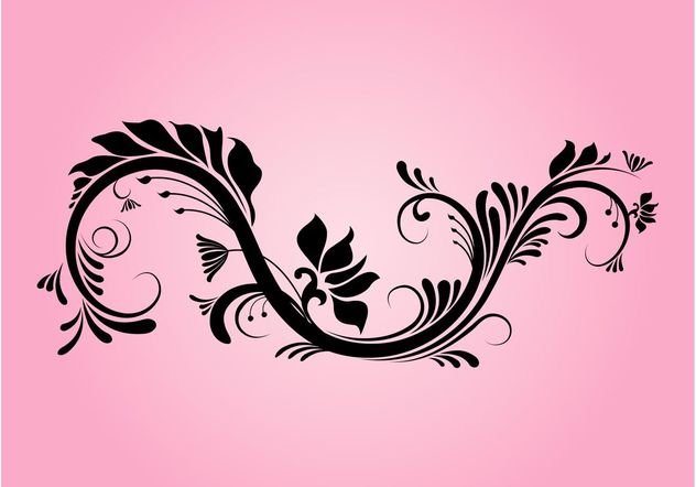 Decorative Floral Swirl - vector gratuit(e) #145791