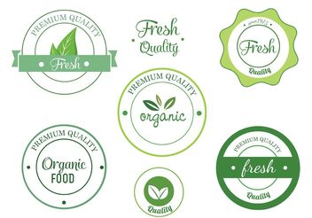 Free Eco Vector Label Set - Kostenloses vector #145901
