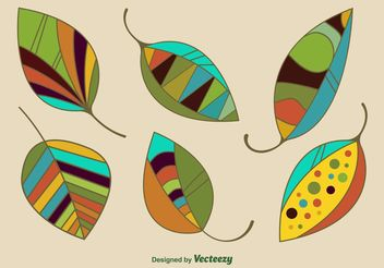 Modern Geometric Leaves Vectors - vector gratuit #145961