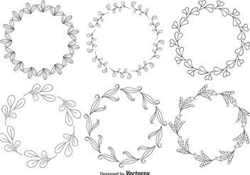 Decorative Floral Frames - Kostenloses vector #146011