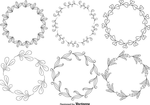 Decorative Floral Frames - Free vector #146011