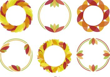 Minimal Autumn Wreath Vectors - vector gratuit #146051