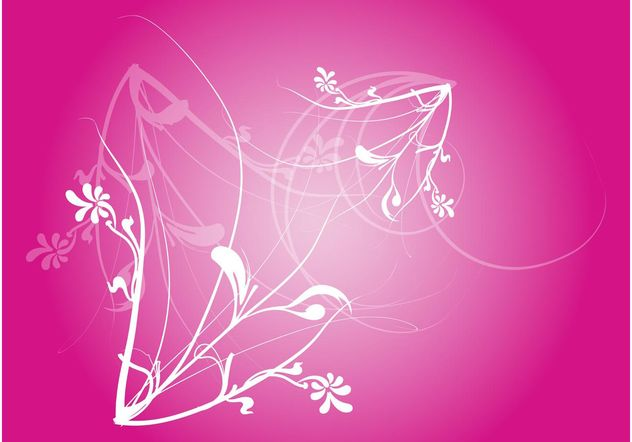 Pink Floral Vector - Free vector #146111