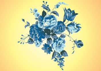 Retro Flowers Vector - Free vector #146141