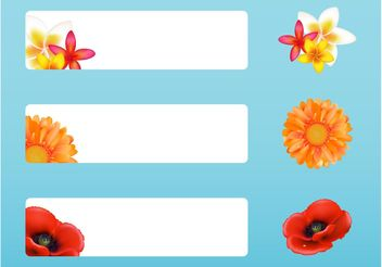 Banners With Flowers - vector gratuit #146151