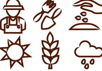 Gardening Vector Icons - Free vector #146221