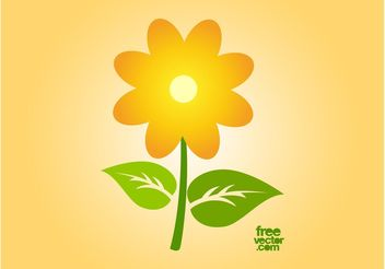 Vector Sunflower Icon - vector gratuit #146421