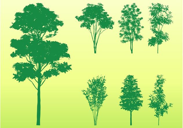 Tree Silhouettes Pack - Free vector #146471